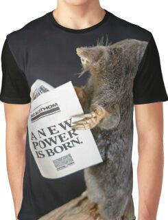 Mole reading the newspaper Graphic T-Shirt