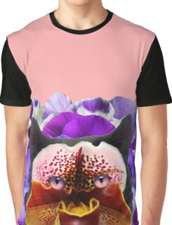 floral cat Graphic T-Shirt