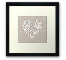 Wedding heart Framed Print