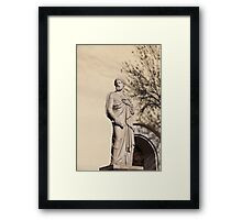 Apostle Peter with the keys of paradise sculpture Framed Print