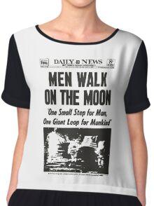 Moon Landing Front Page 1969 Chiffon Top
