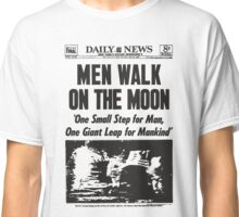 Moon Landing Front Page 1969 Classic T-Shirt