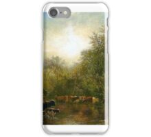 Cows Watering by James McDougal Hart iPhone Case/Skin