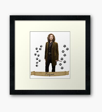 Sirius black - padfoot  Framed Print