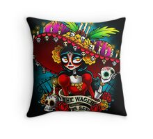 The Wager is Set Throw Pillow