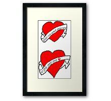 The World Needs Love Framed Print
