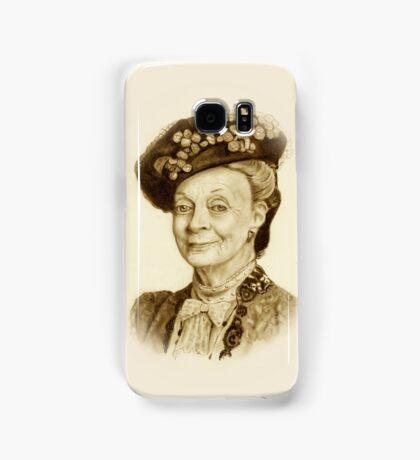 Downton Abbey, Maggie Smith Pencil Portrait, Sepia, Dowager Countess Samsung Galaxy Case/Skin