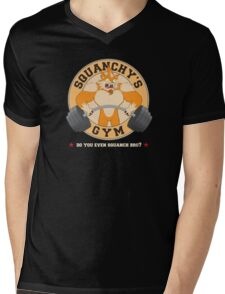Squanchy's Gym Mens V-Neck T-Shirt