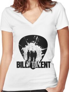 Billy Talent Pick Women's Fitted V-Neck T-Shirt