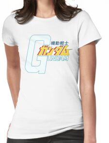 Gundam Title Logo Womens Fitted T-Shirt