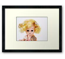 1950s Blond Doll Face Framed Print