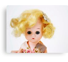 1950s Blond Doll Face Canvas Print