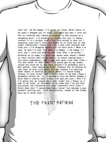 Compilation of Front Bottoms Lyrics  T-Shirt