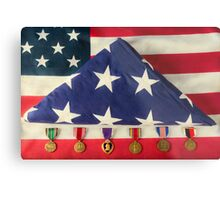 Service and Honor Metal Print