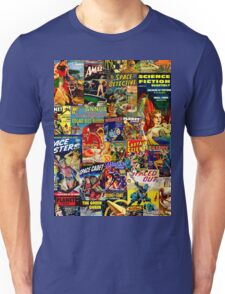 Sci FI Coimic Collage T-Shirt