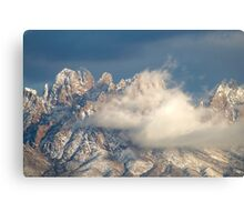 Clouds Lifting after a Snowstorm Canvas Print