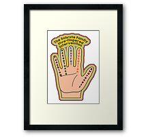 Five Fingered Intervention Framed Print