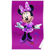 Lady Mouse with Jewel and Purple Ribbon Poster