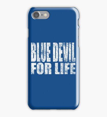 Blue Devil for Life iPhone Case/Skin
