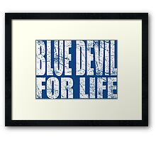 Blue Devil for Life Framed Print