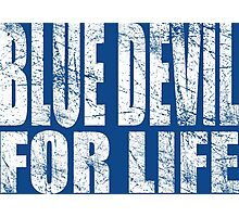 Blue Devil for Life Photographic Print