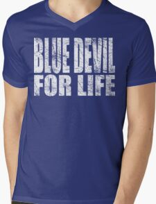 Blue Devil for Life Mens V-Neck T-Shirt