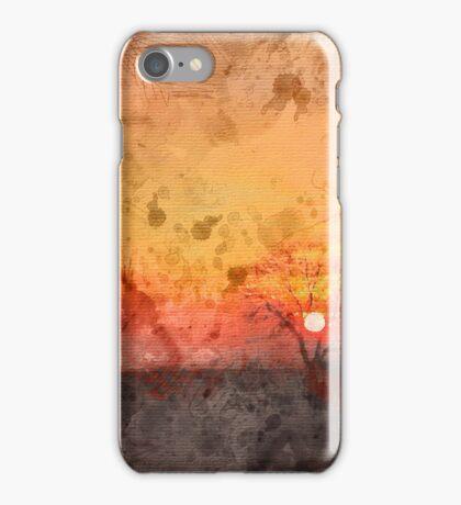 Winter Sunset Watercolour iPhone Case/Skin