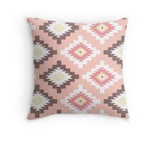 Tribal,native,pattern,boho,nature,peach,yellow,brown,white,red,modern,trendy Throw Pillow