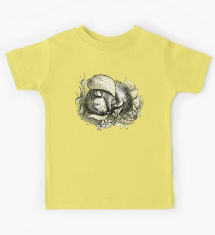 Baby hedgehog sleeping Kids Tee