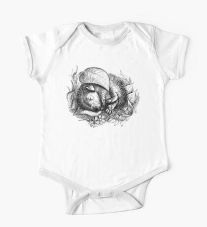 Baby hedgehog sleeping One Piece - Short Sleeve
