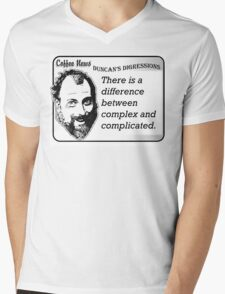 There is a difference between complex and complicated Mens V-Neck T-Shirt