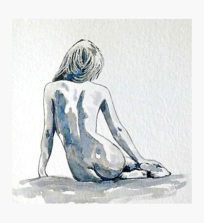 Coy - female nude Photographic Print