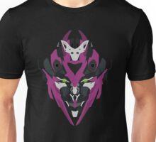 Vector purple robot head  Unisex T-Shirt