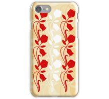 Layered Floral Silhouette Print (1 of 8 please see description) iPhone Case/Skin