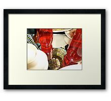 Reflection in Lunch- Paris,France Framed Print