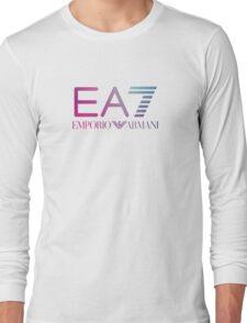 Emporio Armani EA7 - Blue violet Color Long Sleeve T-Shirt