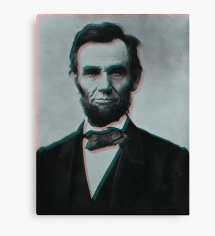 Glitched Abraham Lincoln Canvas Print