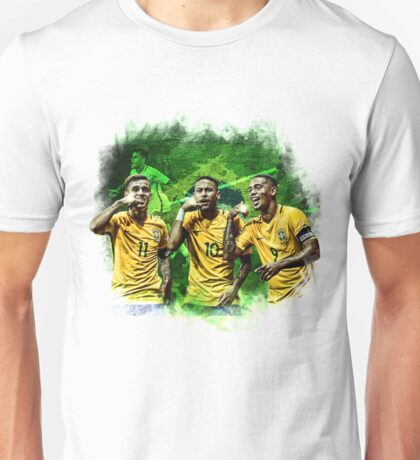 Brazil: Coutinho, Neymar & Jesus Unisex T-Shirt