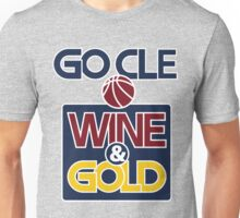 GO CLE Wine & Gold Unisex T-Shirt
