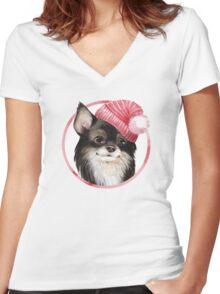 Chi Women's Fitted V-Neck T-Shirt