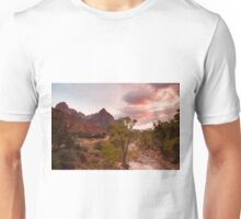 Sunset at the Watchman, Zion National Park Unisex T-Shirt