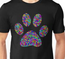 Dog Paw Prints Bling Rhinestone Unisex T-Shirt