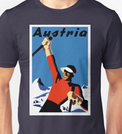 Vintage Austria Ski Travel Poster Unisex T-Shirt