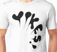 Yikes! Black Unisex T-Shirt