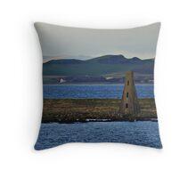 Horse Isle Light Beacon. Ardrossan, Scotland. Throw Pillow
