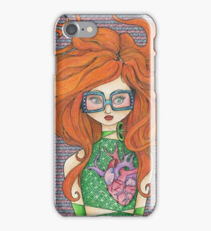 Girl in Rose-tinted Sunglasses iPhone Case/Skin