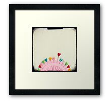 For the love of pins Framed Print