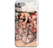 Vintage Bicycle Race Scene iPhone Case/Skin