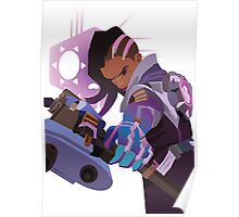 Sombra hacking the world Poster