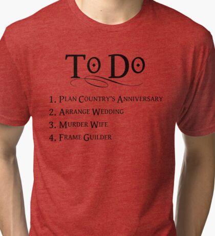 Princess Bride To Do List Tri-blend T-Shirt